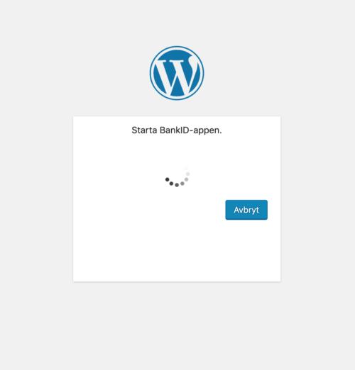BankID login - Wordpress