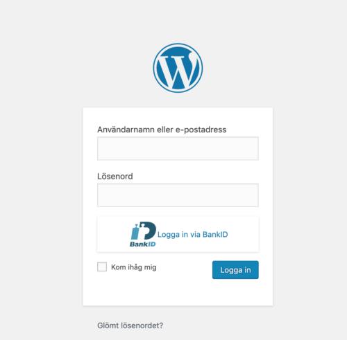 Säker inloggning Wordpress